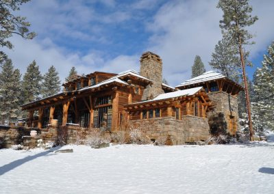 Shining Mountain Ranch Exterior Winter