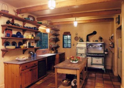 Adobe de la Vista Interior Original Kitchen