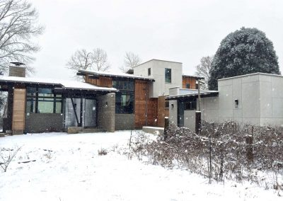 Hale Residence Winter Fron