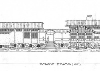 Middle Ranch Entry Elevation
