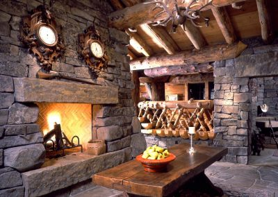 Shining Mountain Ranch Fireplace