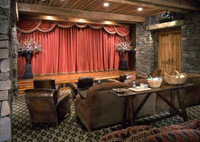 Shining Mountain Ranch Interior Theater