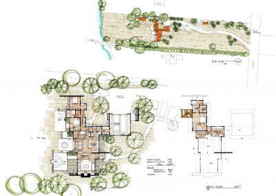 Hale Residence Floor Plans