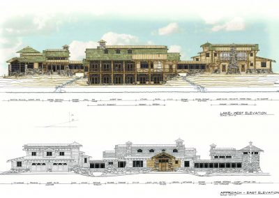 West and East Exterior Elevations