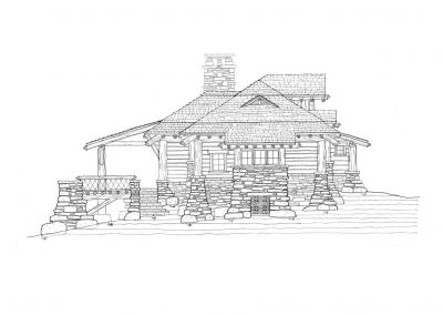 Miller Residence East  Elevation