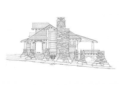 Miller Residence West Elevation